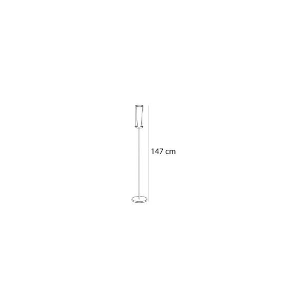Lámpara de pie cromo