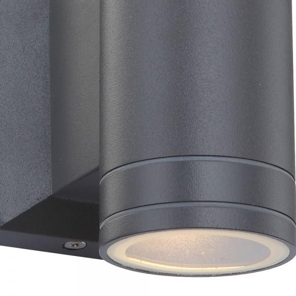 Aplique exterior led 5 W gris oscuro
