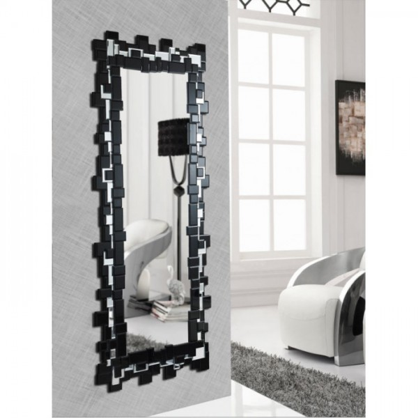 Espejo rectangular negro 154x60