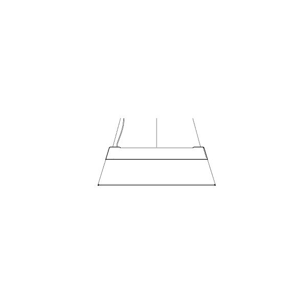 Lámpara techo led pantalla