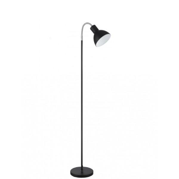 Lámpara de pie lector e27 negra
