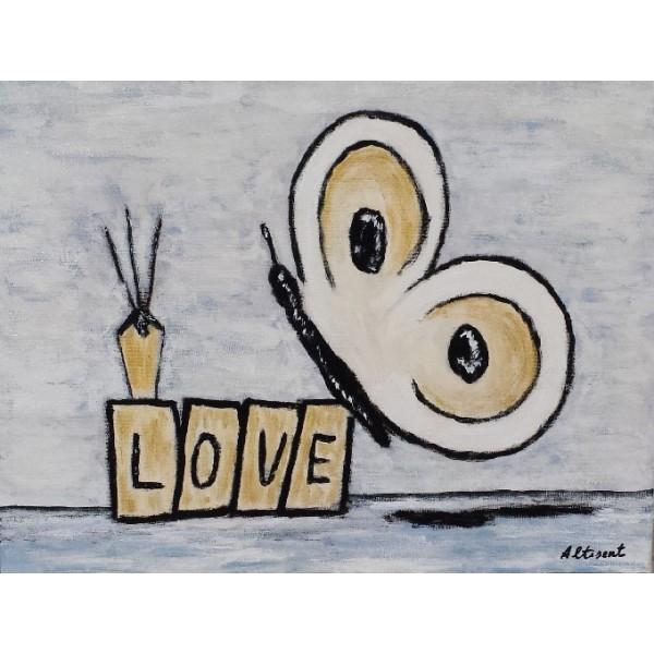 Cuadro Mariposa Love 30x40