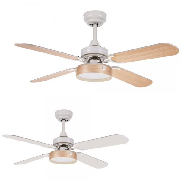 Ventilador Blanco/Haya 2XE27