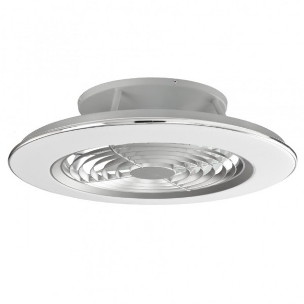 Ventilador plafón led integrada plata